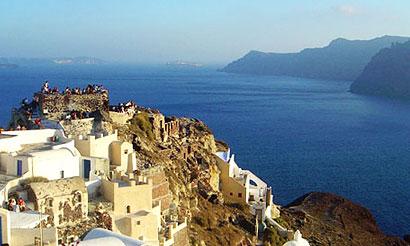 Santorini Oia Castle Kasteli Agios Nikolaos Castles