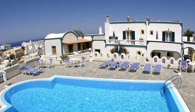 Santorini Cheap Hotels Pension Atlas Karterados Santorini Hotels Greece